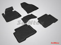 Резиновые коврики с высоким бортом для Hyundai Santa Fe IV 2018